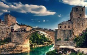 Beautiful view of the Old Bridge in Mostar that is included in the tour