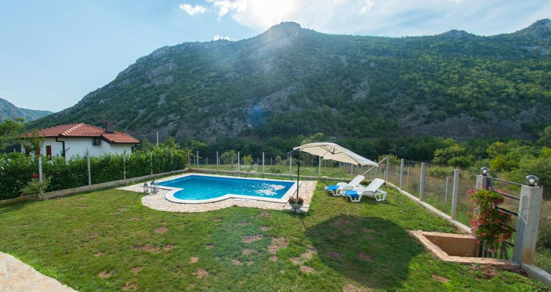 Vacation Home My Dream - Holiday Home in Mostar - outside terrace with swimming pool