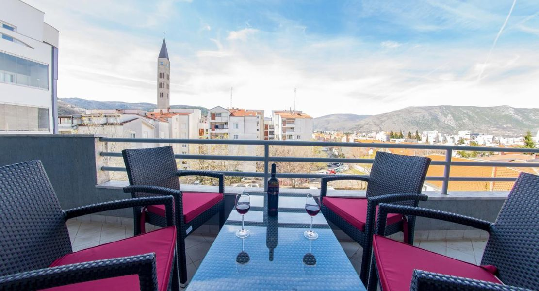 Mostar Apartments - Luxury Apartment Infinity - One bedroom apartment - Terrace View