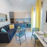 Mostar Studio Apartment Morning Star near Old Bridge Living Room and Bedroom Kitchen and Living Room