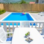 Mostar Villa - Villa King's Garden just minutes from Bčagaj Tekke - Villa with open swimming pool - swimming pool nad the deck view from terrace