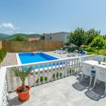Mostar Villa - Villa King's Garden just minutes from Bčagaj Tekke - Villa with open swimming pool - swimming pool nad the deck view from terrace 3