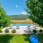 Mostar Villa - Villa King's Garden just minutes from Bčagaj Tekke - Villa with open swimming pool - garden table view